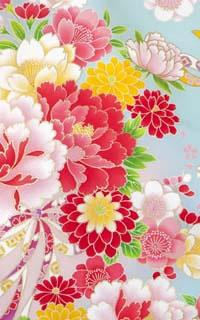 花柄リボン水色