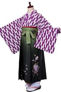 矢絣(矢羽根)紫白