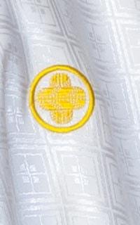 男の紋付(白×水色)
