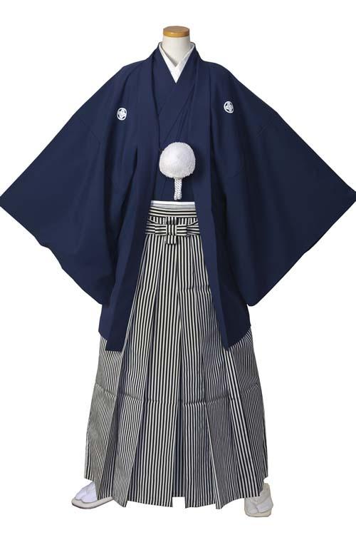男の紋付(紺)