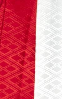 男の紋付(赤白ハーフ)
