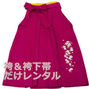 袴&袴下帯だけレンタル