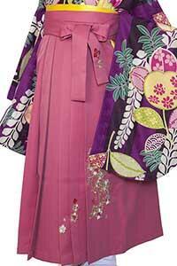 桜蝶ピンク刺しゅう袴