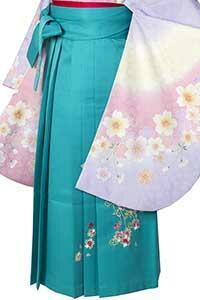 桜蝶エメラルド刺しゅう