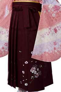 えんじ桜ししゅう袴