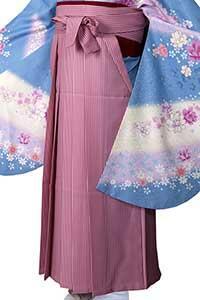 ピンクストライプ袴
