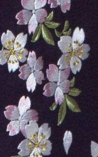 紫縦桜袴Details3