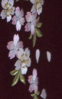 えんじ縦桜袴Details3