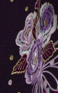 桜ブーケ紫ぼかし刺しゅう袴Details3