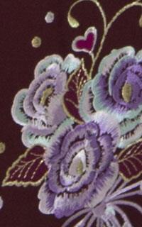桜ブーケえんじ刺しゅう袴Details3