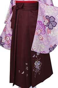 桜ブーケえんじ刺しゅう袴