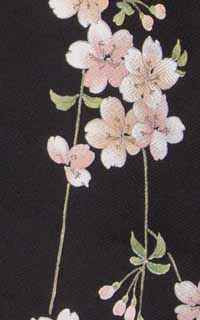 黒桜小紋Details3