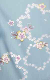 水色ポップ桜Details1