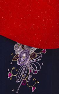 ラメ赤花紋Details1
