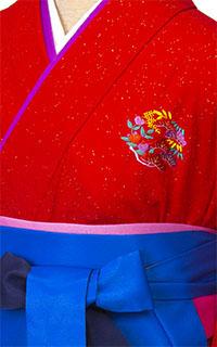 ラメ赤花紋Details2