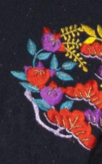 黒ラメ花紋