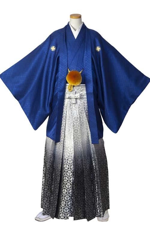 男の紋付(青紺)