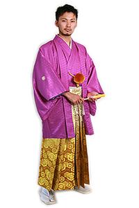 男の紋付(紫)