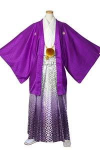 男の紋付(紫白)